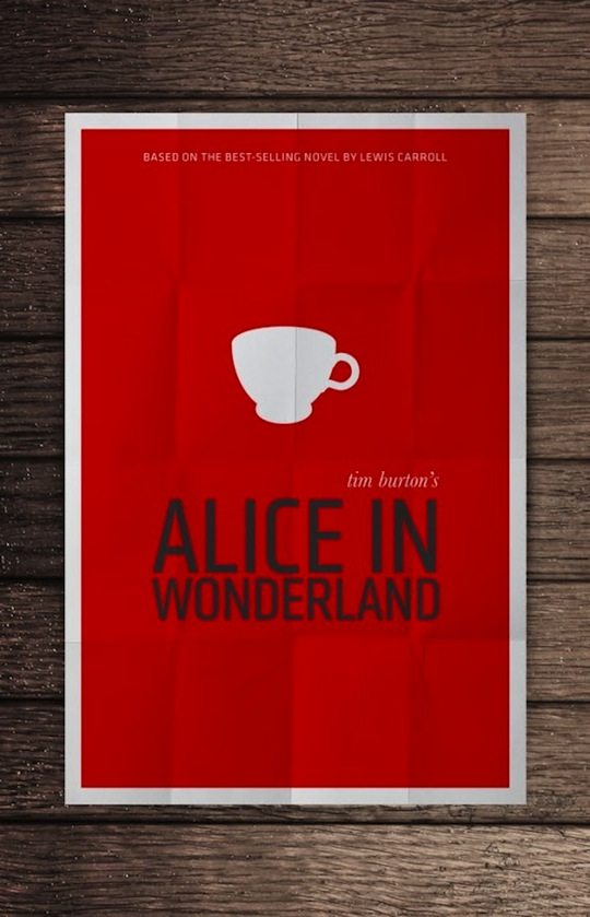 alice minimalistic movie posters