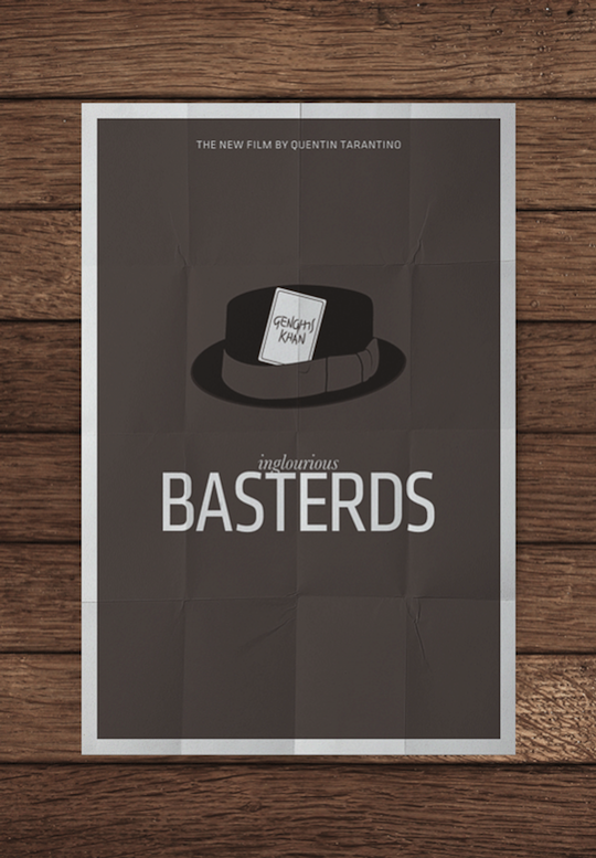bastards minimalistic movie posters