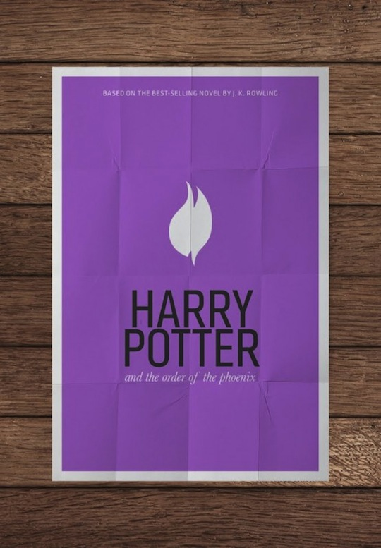 harry potter minimalistic movie posters