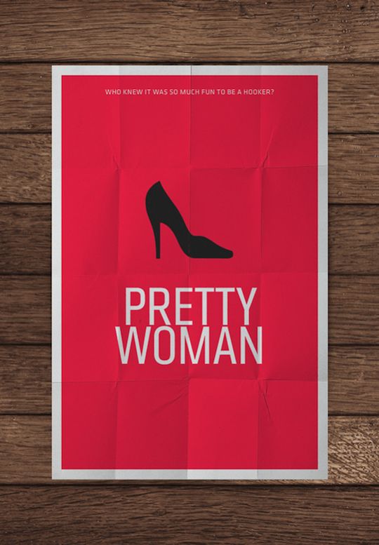 pretty woman minimalistic movie posters