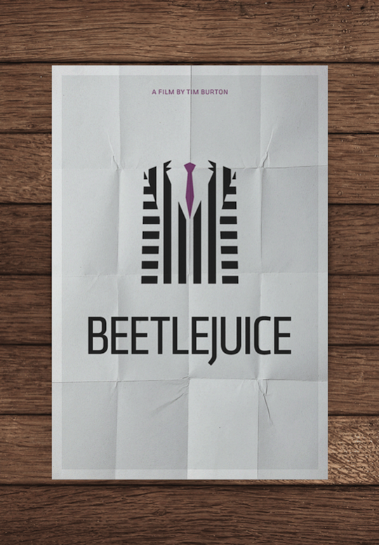 beetlejuice minimalistic movie posters