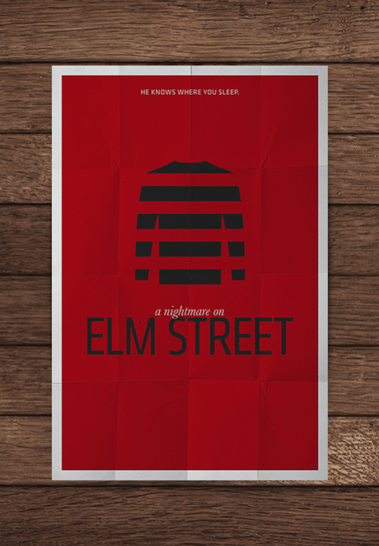 elm street minimalistic movie posters