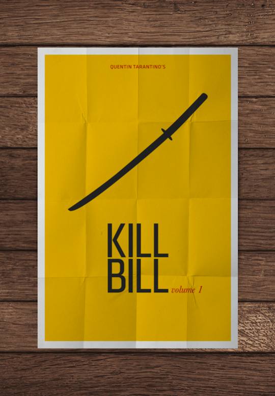 kill bill minimalistic movie posters