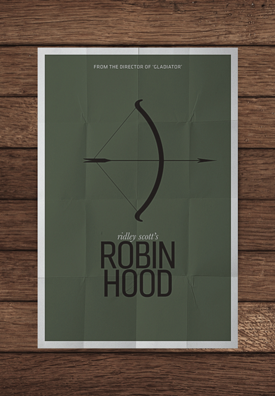 robin hood minimalistic movie posters