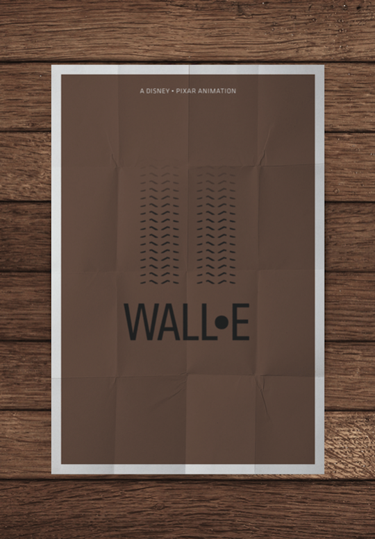 wall e minimalistic movie posters