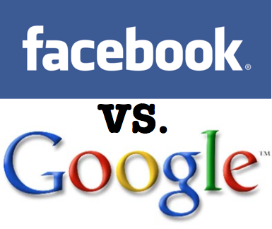 Infographic:Comparing Facebook and Google
