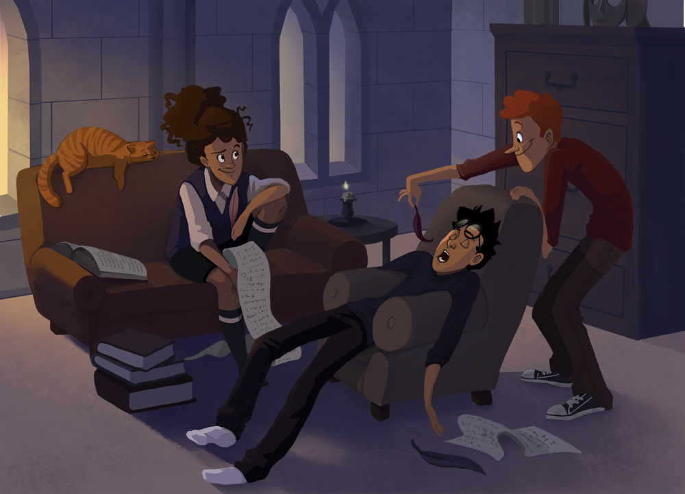 Harry Potter Cartoon Style Art (10)