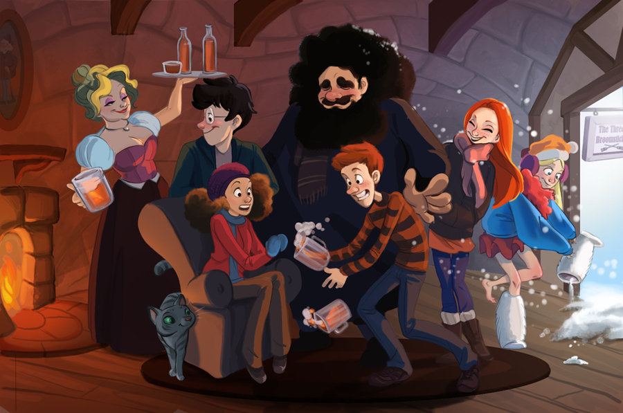 Harry Potter Cartoon Style Art