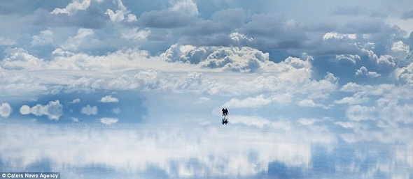 Huge mirror of the world