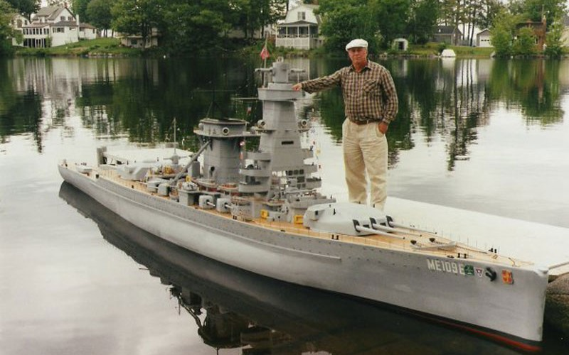 Man Builds 30 ft Model Replica of a Battleship