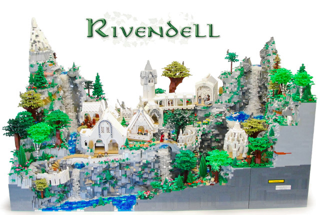 Middle Earth's Rivendell Recreated In 50K LEGO Blocks