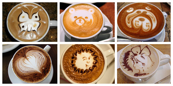Hot Coffee Art Designs