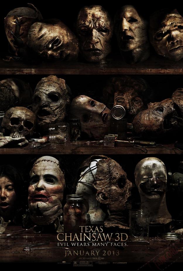 TEXAS CHAINSAW 3D Horrific Poster