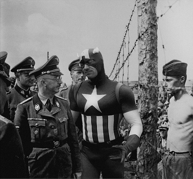historic photographs with Super Heroes (12)