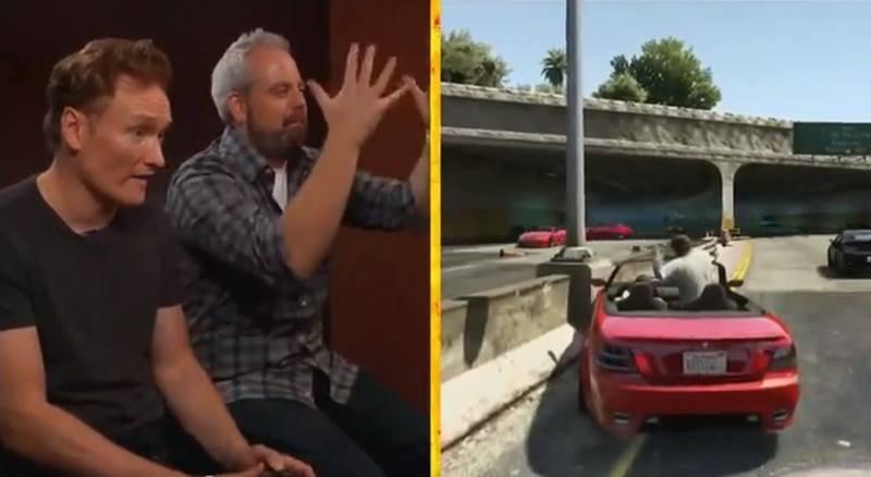 """Conan O'Brien Reviews """"Grand Theft Auto V"""""""