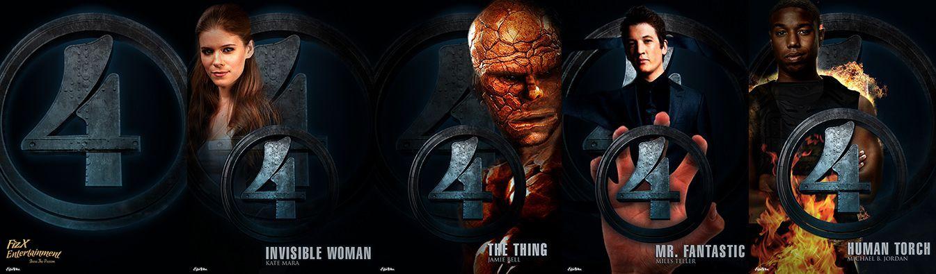 f i z x fantastic four reboot cast posters imagined