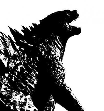 Black and White Godzilla Poster