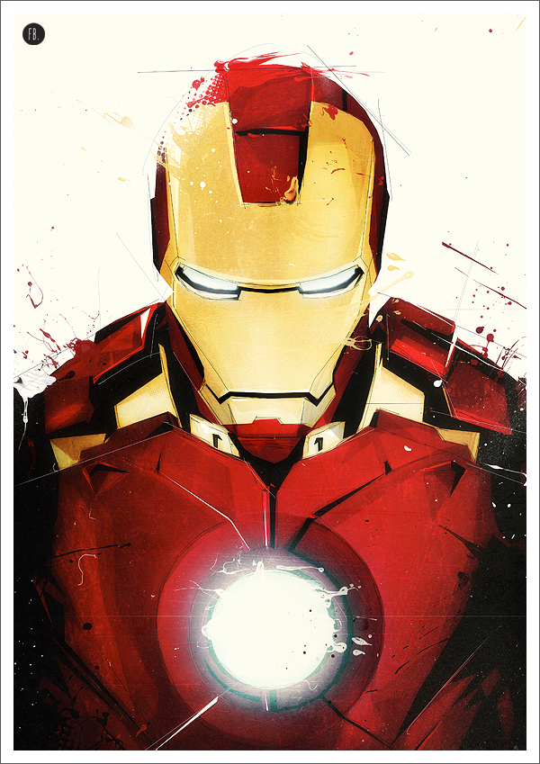 Iron Man Superhero Art