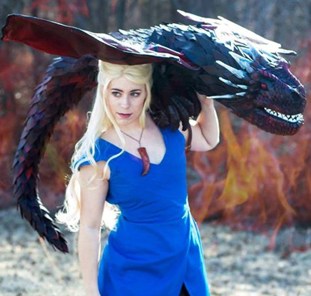 Daenerys and her Dragon Cosplay